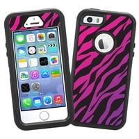 "Pink and Purple Zebra ""Protective Decal Skin"" for OtterBox Defender iPhone 5s Case"