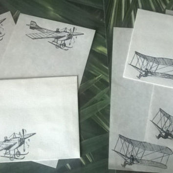 biplane glider stationery Set 1 5 10 parchment paper letter writing envelope industrial airplane steampunk Victorian card adult coloring