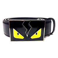 Fendi Monster White Gold Strap Gold Buckle Men's 38