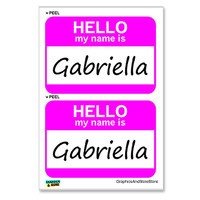Gabriella Hello My Name Is - Sheet of 2 Stickers