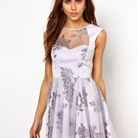 Lashes Of London Prom Dress In Glitter Mesh at asos.com