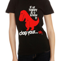 Goodie Two Sleeves Dino Clap Girls T-Shirt