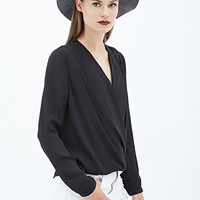 FOREVER 21 Draped Surplice Blouse