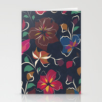 flowers blooming Stationery Cards by SpinL