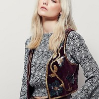 Free People Shrunken Sequin Vest at Free People Clothing Boutique