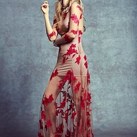 For Love & Lemons Womens Orchid Maxi Dress