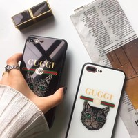 Tide brand cat tempered glass drop all inclusive mobile phone case