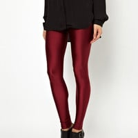 Red Wine Skinny Leggings