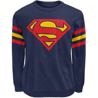 Superman - Logo Sweater (Size: S, Color: Dark blue) = 1946367428