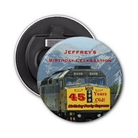 Railroad Bottle Opener 45th Birthday Party Favor