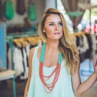 Layered Tank Top in Mint