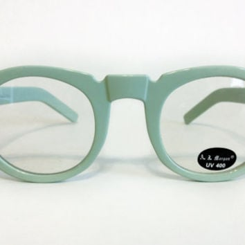 Mint Green Glasses by AJ Morgan Unisex Eyewear by ModernFiction