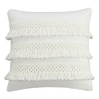 cupcakes and cashmere 'Chambray Dot' Fringe Appliqué Pillow | Nordstrom