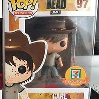 Funko POP! The Walking Dead CARL GRIMES Bloody 7-11 Exclusive Blood Splatter #97