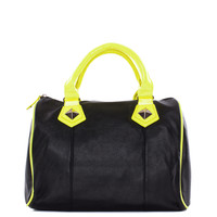 All About You Purse - Black/ Neon Yellow