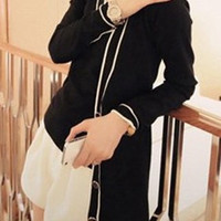 V Neck Long Sleeve Knitted Vest and Cardigan Twinset