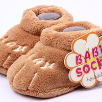 Cotton Lovely Baby Shoes Toddler Unisex Soft Sole Skid-proof Kids girl infant Shoe First Walkers prewalker 0-12 Months 11 5cm NW