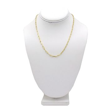 Amanda Rose 14k Yellow Gold 3.4mm Paperclip Chain Necklace (Choose your length)