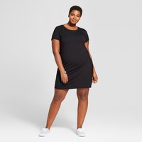 Women's Plus Size T-Shirt Dress - Ava & Viv™ Black