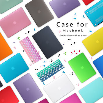 Premium New Matte Case For Apple MacBook Air 11 13 inch Laptop Sleeve for Mac book Pro 13 15 with Retina Gradient keyboard Cover