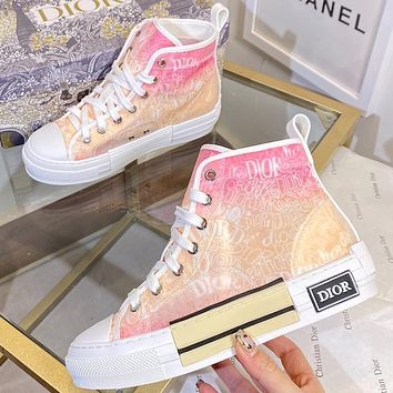 Christian Dior new letter print mens and womens high-top sneakers Shoes #3