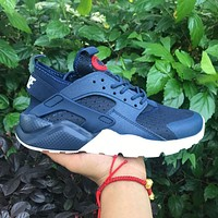 Sale Nike Air Huarache 4 Rainbow Ultra Breathe Men Women Hurache Blue Running Sport Casual Shoes Sneakers - 107