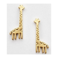 Cute Golden Mini Giraffe Earrings = 1651539204