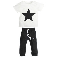 Boys Star Print Outfit - Sizes 12M to 3T