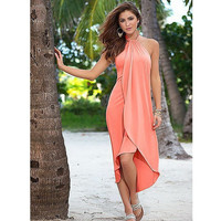 New sale Summer Casual Beach Bohemian dress Strapless bandage Irregular Hem  Ankle-Length women dresses LYQ109