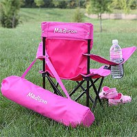 Toddler Personalized Pink Folding Chair
