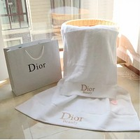 DIOR new fashion High Quality White Towel Embroidery Letter Towel, Bath Household Towel 2 Pieces