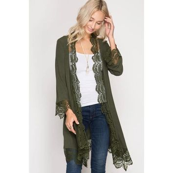 The Lacy Olive cardigan