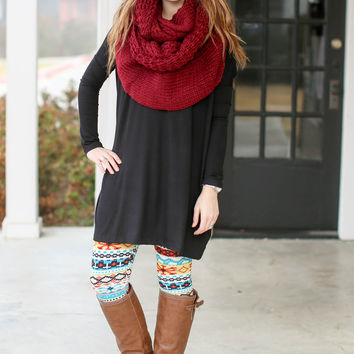 Think Out of the Box Tunic - Black