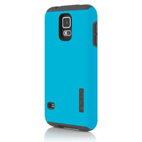 The Cyan/Gray DualPro® Hard-Shell Case with Impact Absorbing Core for Samsung Galaxy S5