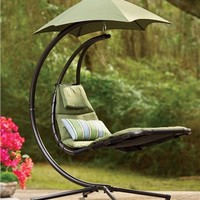 Dream Chair Suspended Lounge Chair With Umbrella