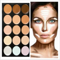 Fashion 15 Colors Foundation Concealer (Size: 15.5cm by 10.5cm by 1.3cm, Color: Multicolor) [6280853252]