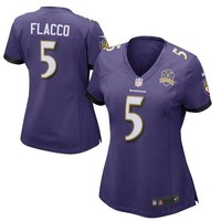 Women's Baltimore Ravens Joe Flacco Nike Purple Patch Game Jersey