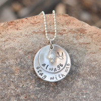 Hunger Games - Hand Stamped necklace - Stay with me, Always - Katniss, Peeta