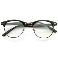 Vintage Optical RX Clear Lens Half Frame Glasses 2946 49mm
