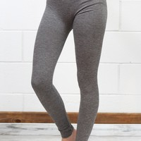 Body Shaping Fleece Lined Leggings {Grey}