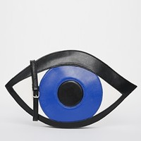 THE WHITEPEPPER Halloween Exclusive to ASOS Eye Clutch Bag at asos.com