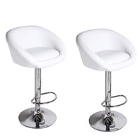 White Bar Stools (Set of two)