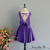 Party Angel Dress Royal Purple Backless Party Dress Purple Backless Dress Prom Party Wedding Cocktail Bridesmaid Dresses Purple Dress XS-XL