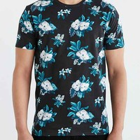 BDG Moody Floral Standard-Fit Crew Neck
