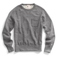 Classic Pocket Sweatshirt in Salt and Pepper