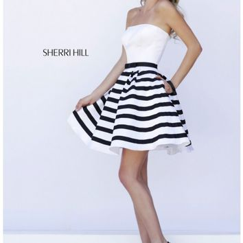 Sherri Hill 32200 White/Black Dress - Prom, Homecoming, Cocktail Party