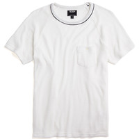 Tipped Terry Pocket Tee in White