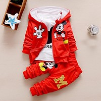 Baby Boy Clothes Spring Autumn Cartoon Long Sleeved Hooded Hoodies