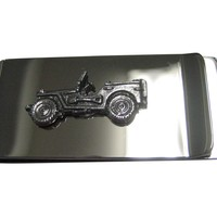 Silver Toned Jeep Car Money Clip