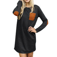 Dresses Women Long Sleeve Casual Loose Robe Short Dress Womens Clothing Sweater Vintage dress Robe